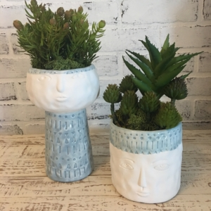 pottery and succulents