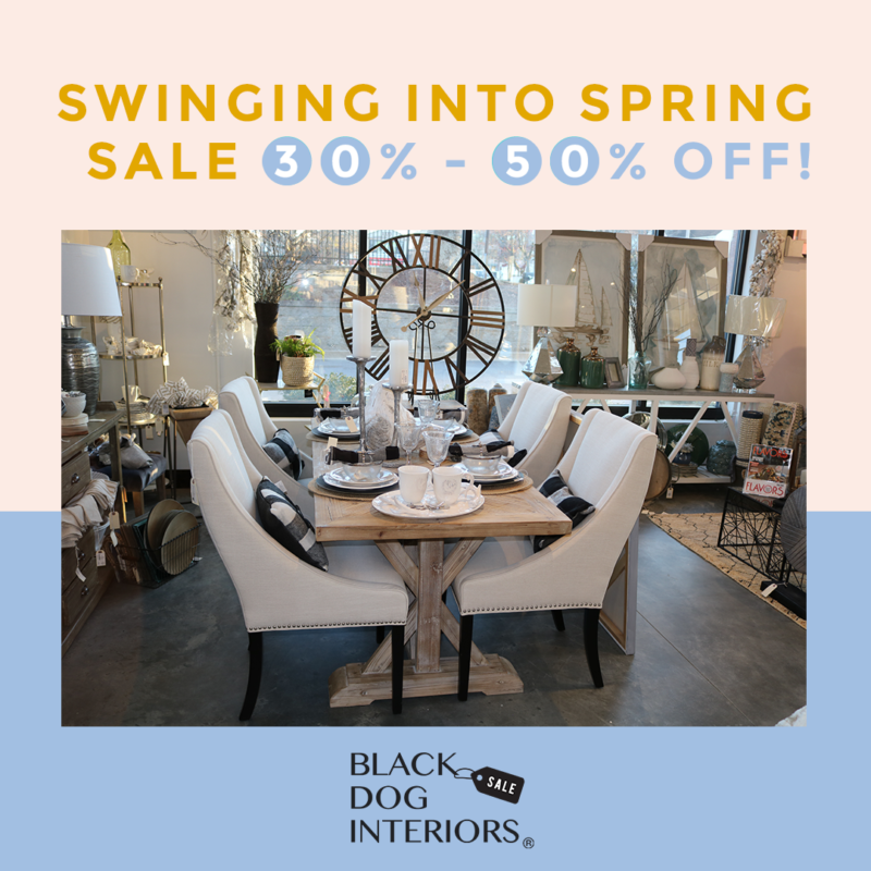 Black Dog Interiors Roswell GA Spring Sale
