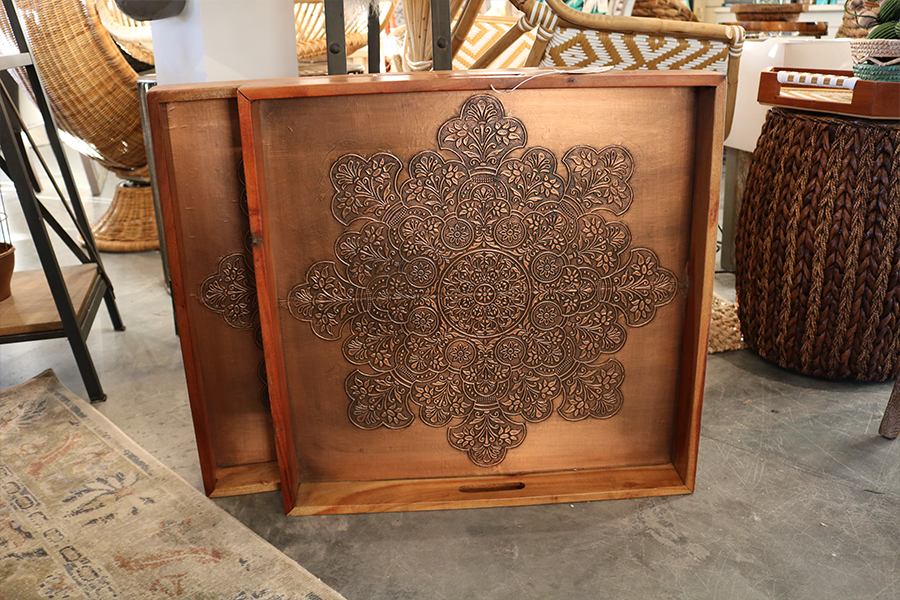 copper trays 40% off