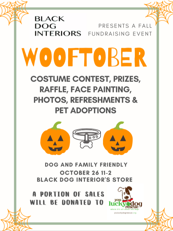 Wooftober Black Dog Interiors